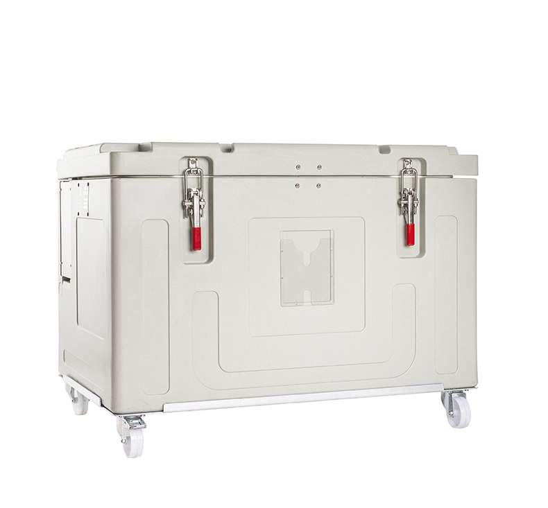 Contenedor isotermo para el transporte y almacenamiento de hielo seco
